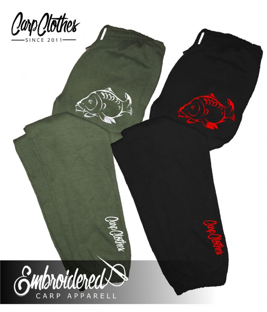 001 EMBROIDERED CARP JOGGERS